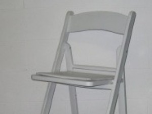 WhitePadded Folding chair $6.00ea