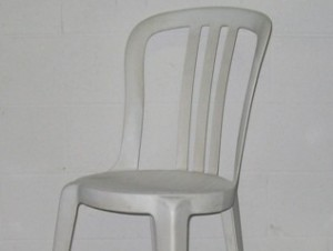 White Bistro Chair $3.12ea