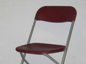 Burgundy Folding Chair $1.56ea