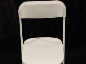 White Folding Chair $2.34ea
