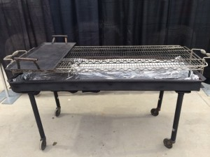 Charcoal BBQ with 3' griddle $96.00
