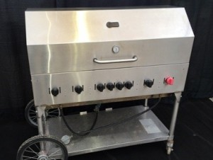 4', 6 Burner Propane bbq with lid $156.00ea