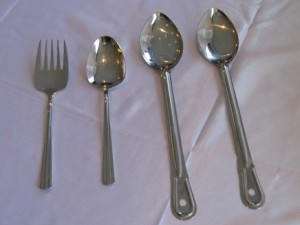 Serving Forks & Spoons $1.80ea
