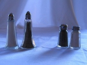 Tall & Flat Salt/Pepper sets $3.12 - $3.78