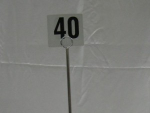 Table Marker Stand / number $3.00pr