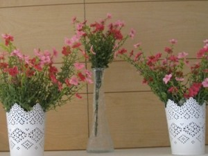 Small White Flower Pots