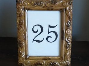 Brown Table Number Frames