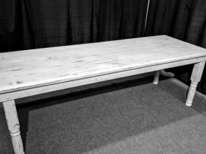 White Harvest Table - $75.00 each