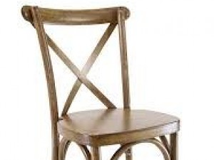 Cross Back Chair - $10.00 each